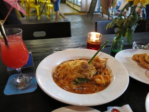 spaghetti ve chilli crab